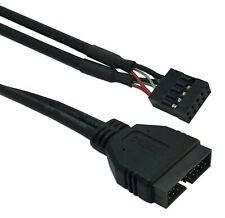 19/20 Pin USB 3.0 Female To 9 Pin USB 2.0 Male Motherboard Header Adapter Cord