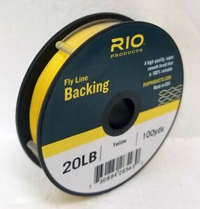 RIO 20 LB 100 YARD SPOOL OF DACRON BACKING IN YELLOW FLY LINE & REEL BACKING
