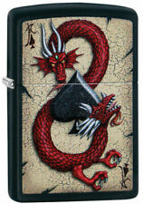 "Zippo Lighter ""Dragon Ace "" No 29840 - New on black matte finish"