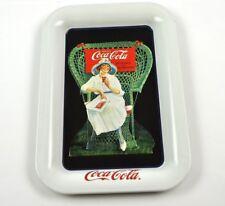 COCA-COLA COKE Mini bandeja bandeja de cambio EE.UU. Tray Lady en blanco 1919