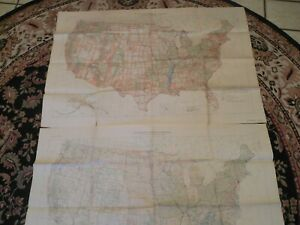 "2 MAPS~U.S.HORIZONTAL & VERTICAL GEOLOGICAL SURVEY FIRST EDITION 1948 28"" x 42"""