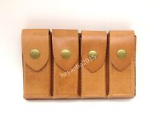 NEW WWII Chinese KMT Kuomingtang Army Mauser Leather Ammo Pouch Color Brown