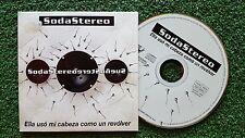 """SODA STEREO """"Ella usó mi cabeza como un revólver"""" 1995 Spain PROMO CD Single"""