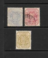 1894 Queen Victoria SG200 - SG202 Mint Hinged & SG201  Used TRANSVAAL