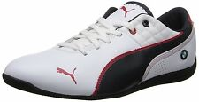 New Puma BMW MS Drift Cat6 Trainers Leather 305103 02 White BMWTeam Blue UK 6.5