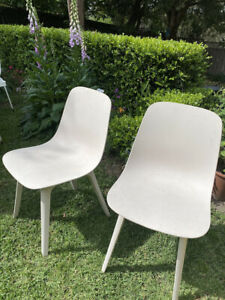 2 x IKEA OGDER CHAIRS PAIR CREAM OFF WHITE cleaned p/up Sydney