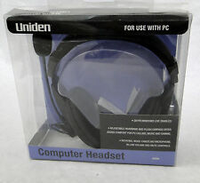Uniden Computer Headset with built in Boom Mic.  New