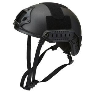FAST Tactical Ballistic Helmet made with Kevlar Bullet Proof NIJ IIIA Black