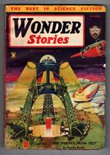 """Wonder Stories October 1934 Eando Binder """"The Thieves from Isot"""""""