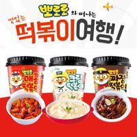 [Pororo] Cup Tteokbokki - 3 Flavors - Korean Instant Snack Spicy Rice Cake