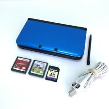 Nintendo 3DS XL Handheld Console Blue - SPR-001 - w Charger SD Card Stylus Games