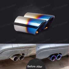 Roast Blue For 06-10 BMW E90 E92 325 3 Series Muffler Exhaust Tail Pipe Tip 2X
