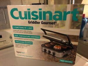 NEW! Cuisinart Griddler Gourmet Model 8NPC 5 Functions in 1 Unit