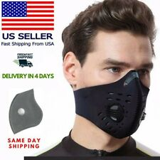 Face Mask Air Activated Carbon Filter Double Cotton Reusable Washable USA SHIPS