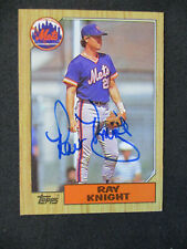 Ray Knight New York Mets Autographed Signed 1987 Topps #488 EXMT+-NM NICE 468
