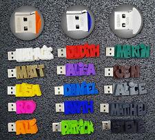 Clé USB 3.0 personnalisée unique avec votre texte - 15 couleurs au choix - 32 Go