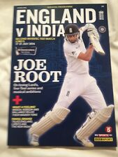 Official Cricket Programme 2014 July England V India Investec 2nd Test at Lords