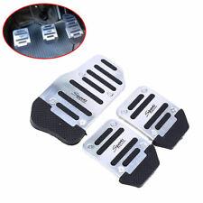 3x Non Slip Manual MT Brake Clutch Pedal Cover For Honda Toyota Audi VW Silver