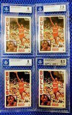 1992-93 TOPPS ARCHIVES #52 MICHAEL JORDAN LOT-4 BGS 6,7.5,8 & 8.5!!!!