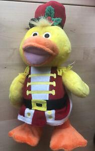 "Russ Christmas Nutquacker Duck Sidestepper Dance And Quack Stuffed Plush Toy 13"""