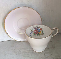 Paragon China Pink and Floral Cup & Saucer Set English Bone China