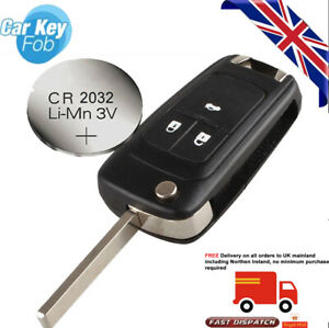 fits Chevrolet Cruze Aveo 3 Button FOB Remote Key CASE Uncut Blade +new battery