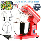 Pro Electric Food Stand Mixer 7-QT Tilt-Head 6-Speed Kitchen Stainless Bowl Red photo