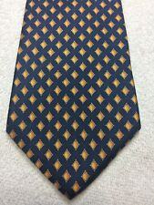 CLUB ROOM MENS TIE NAVY BLUE WITH GOLD AND ORANGE 3.75 X 58 NWOT