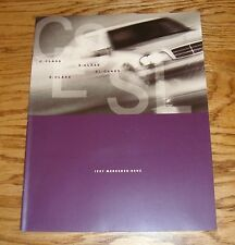 Original 1997 Mercedes Benz Full Line Sales Brochure 97 C E S SL Class
