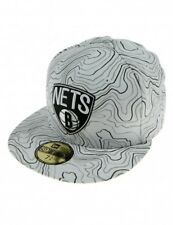 A32 NEW ERA OFFICIAL NBA BROOKLYN NETS White Contour Baseball Cap * Var Sizes