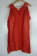 WITCHERY Shift dress Sz XS, 8 Orange Silk