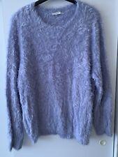 Fluffy George Eyelash Sweater/Jumper Light Blue S22