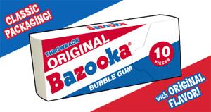 BAZOOKA BUBBLE GUM 10 PIECE WALLET    NWT