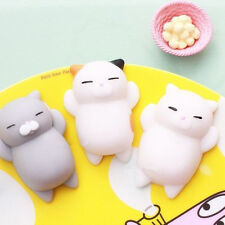 Mochi Cute Soft Cat Squishy Squeeze Healing Funny Kids Toy Gift Stress Reliever