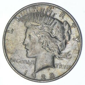 Early - 1923-D - Peace Silver Dollar - 90% US Coin *387