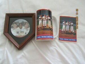 WILLIE MICKY AND THE DUKE LOT OF 3 PLATE,CARD, STEIN THE GREATEST CENTERFIELDERS
