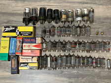 Vintage Assorted Lot Of 62 Vacuum Tubes -Sylvania Philco Zenith RCA & More