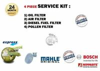 FOR CITROEN NEMO 1.4 HDi 4/2008-> SERVICE KIT OIL AIR FUEL POLLEN FILTER kit