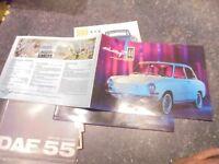 Ancien Catalogue  DAF 44 Variomatic 1966