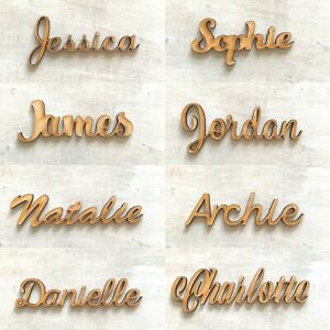 Personalised Wooden Names Scripts Places Names Children's Names Words Plaques