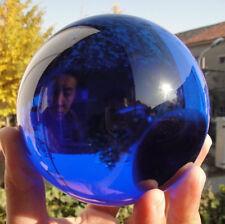 Asian Rare Natural Quartz Blue Magic Crystal Healing Ball Sphere 100MM +Stand #