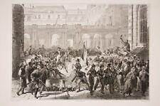 Vernet (d'apres) 31/7/1830 Louis Phillipe quitte le Palais Royal,Révolution 1830