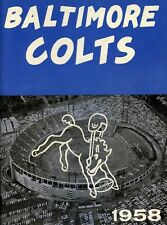 GREAT COLORS ON THIS 1958 BALTIMORE COLTS YEARBOOK PROGRAM PHOTO 8 x10
