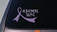 "2X Alzheimers purple Ribbons 6"" Sticker Decals Dementia cure love"