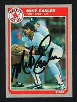 Mike Easler #157 signed autograph auto 1985 Fleer Baseball Trading Card