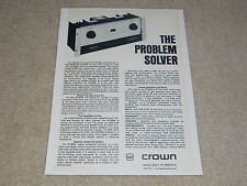 Crown DC300a Power Amplifier Ad, 1 page, 1974, Articles