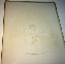 Antique Victorian American Circus Side Show Performer Chiquita NY Cabinet Photo!