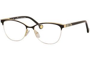 CH Carolina Herrera Eyeglasses  VHE123K 0301 Gold/Black Optical Frame 53mm