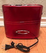 Nostalgia Electric Red Retro Series Pop-Up Hot Dog Toaster Hdt600Retrored