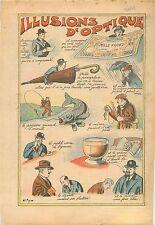 Humour Illusion d'Optique Billet de Banque Bank-Note Election Député Elu 1934